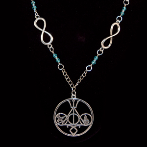5 Fandoms Infinity Necklace - Silver