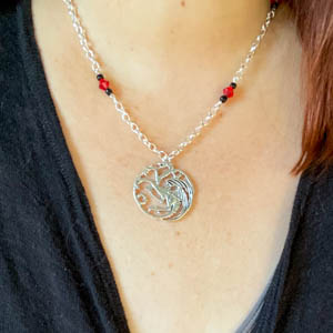 Game of Thrones - Targaryen Necklace - Silver
